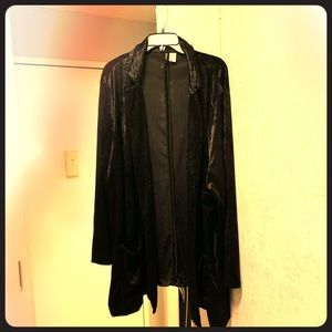 H&M VELVET 4X BLACK OVERSIZED BLAZER SO COMFY!